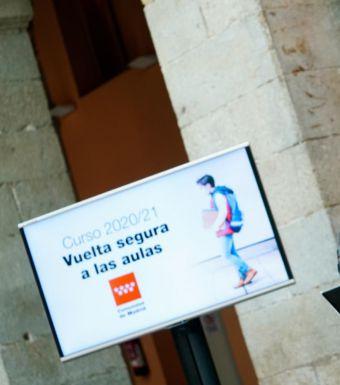 La Comunidad invierte el mayor volumen de recursos de la historia para que la Educación madrileña no se resienta por el COVID-19
