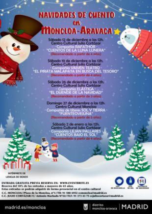 Cuentos infantiles y música clásica para iluminar la Navidad en Moncloa-Aravaca