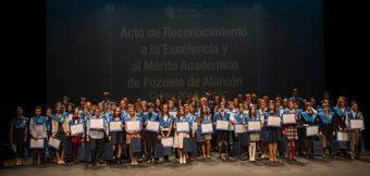 Galardonados con los Premios a la Excelencia y al Mérito Académico de Pozuelo de Alarcón. Curso 2014-2015