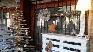 Composición navideña del restaurante La Montanera