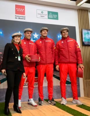La Comunidad da la bienvenida a la selección española de tenis que disputará la Copa Davis