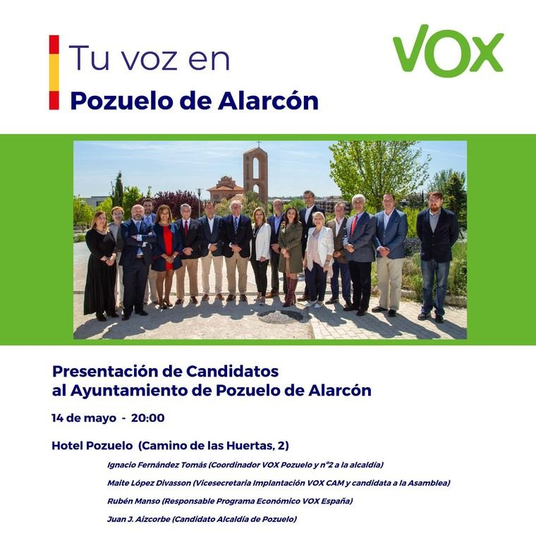 VOX presenta a sus candidatos