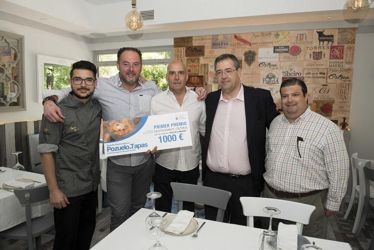 Los restaurantes Ostrea, Taberna Entretrés y Tres 60 se alzan con los premios de la última edición de Pozuelo de Tapas