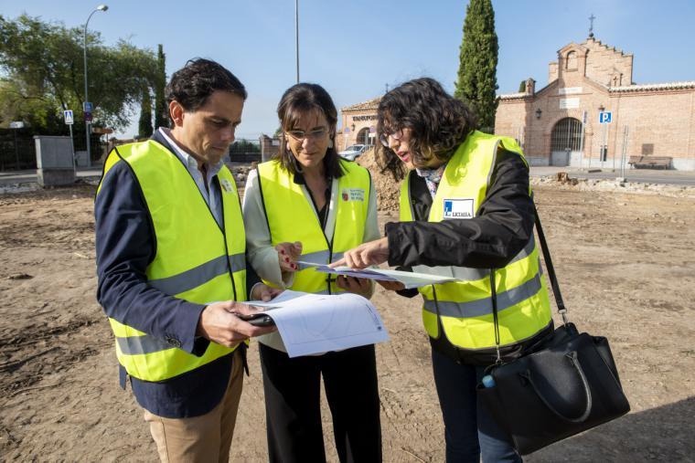 Comienzan las obras de la rotonda del cementerio de Pozuelo de Alarcón