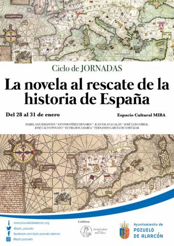 """Periodistas, escritores e historiadores de prestigio participarán en Pozuelo en el ciclo """"La novela al rescate de la historia de España"""""""