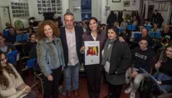 La alcaldesa visita la sede de la Banda de la Unión Musical de Pozuelo de Alarcón