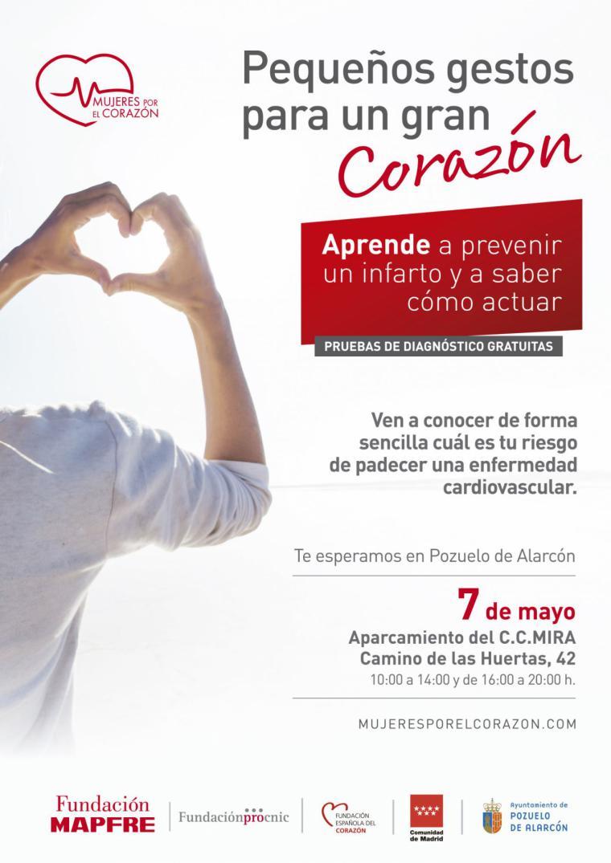 El autobús de «Mujeres por el corazón» llega a Pozuelo para ayudar a prevenir infartos