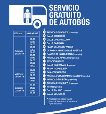 ESPECIAL FIESTAS.Pozuelo de Alarcón dispondrá de un servicio especial y gratuito de autobuses nocturnos para las noches festivas de fin de semana