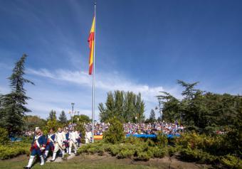 Multitudinario acto de Homenaje a la Bandera en Pozuelo de Alarcón