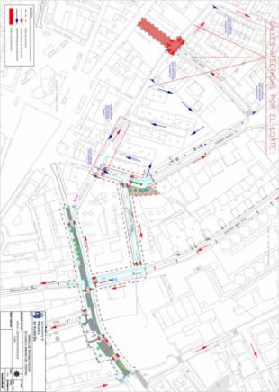 El Ayuntamiento informa de cortes de tráfico en las calles Norte y Las Flores, en el centro de la ciudad