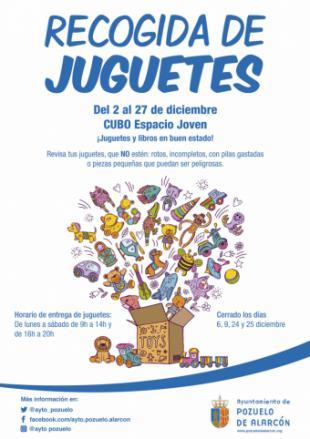Hasta mañana 27 de diciembre sigue en marcha la campaña de recogida de juguetes para niños sin recursos en el CUBO Espacio Joven