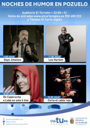Humor con el monologuista Goyo Jiménez, cine para toda la familia con Dumbo, pintura infantil y música en la calle, propuestas para el primer fin de semana de julio