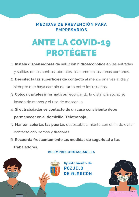 Pérez Quislant remite una carta a los empresarios de la ciudad para informarles sobre las nuevas medidas preventivas para hacer frente al COVID-19
