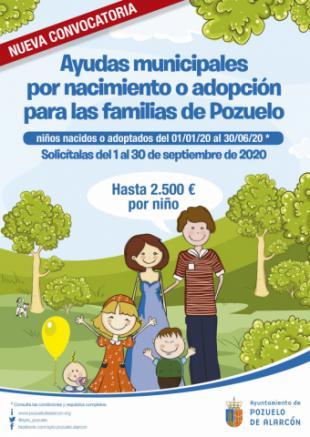 El Ayuntamiento abre una nueva convocatoria de ayudas al nacimiento o adopción de hasta 2.500 euros