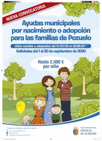 El 30 de septiembre finaliza el plazo para solicitar las ayudas al nacimiento o adopción de hasta 2.500 euros