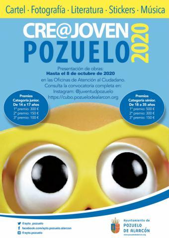 Últimos días para presentar las obras al Certamen CRE@ Joven Pozuelo 2020 con el que el Ayuntamiento premia el talento artístico y creativo