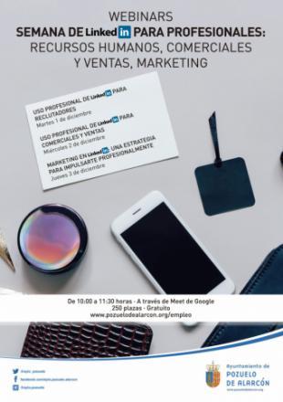 """Nuevas webinars en la """"Semana de LinkedIn"""" para profesionales, Recursos Humanos, comerciales y ventas y Marketing"""