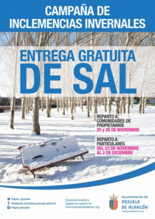 El Ayuntamiento inicia su campaña de inclemencias invernales con la entrega gratuita de sal a particulares y comunidades de propietarios