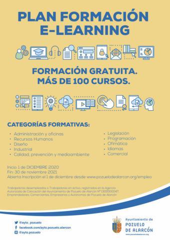 El Ayuntamiento pone en marcha una nueva edición del plan de Formación e-Learning con más de un centenar de cursos