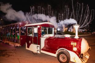 """La alcaldesa disfruta junto a los vecinos de un viaje en el """"Tren de la Navidad"""""""