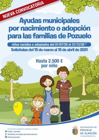 Nueva convocatoria de ayudas al nacimiento o adopción de hasta 2.500 euros