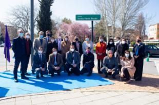 Inaugurada la plaza que Pozuelo dedica a la escritora Emilia Pardo Bazán