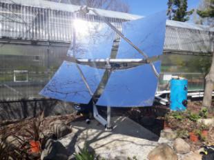 El Circuito de Energías Renovables del Aula de Educación Ambiental incorpora una novedosa parábola solar