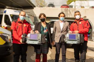 Pérez Quislant conoce los cuatro nuevos monitores para los vehículos del Servicio de Emergencias