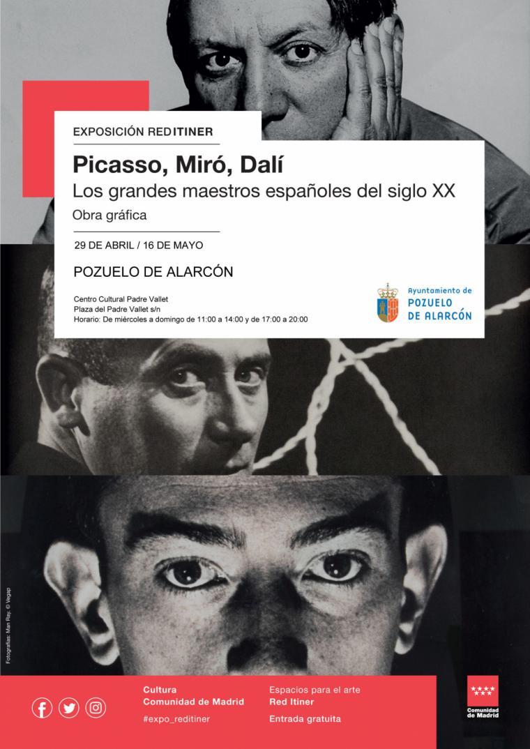 El Centro Cultural Padre Vallet reúne litografías, aguafuertes y grabados de Dalí, Miró y Picasso