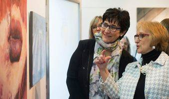 Mujeres artistas de Pozuelo exponen en Padre Vallet