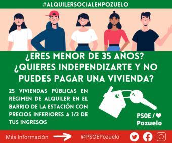 El PSOE de Pozuelo sale a la calle para difundir el acuerdo de construcción de vivienda pública en régimen de alquiler para familias y jóvenes