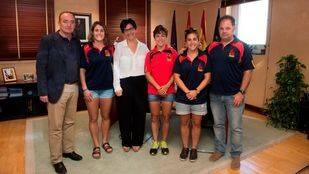 Pérez Quislant recibe a tres deportistas de Pozuelo que participarán en las Olimpiadas de Río 2016