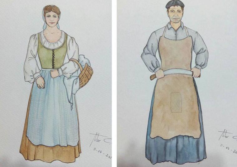 La lavandera y el curtidor según Aitor Calleja. Nuevos gigantes de Pozuelo de Alarcón.
