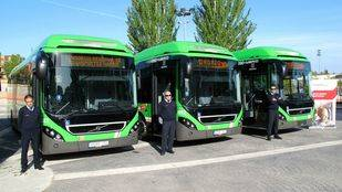 La flota de autobuses de Pozuelo se renueva con cinco vehículos híbridos