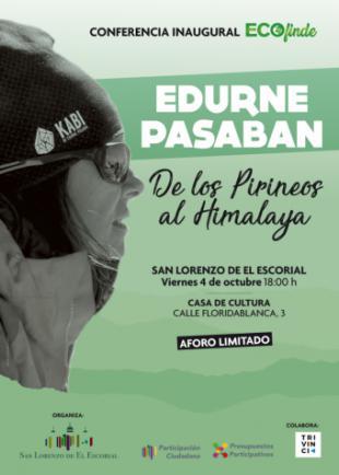 Edurne Pasaban inaugura el Ecofinde de San Lorenzo de El Escorial con una conferencia en la Casa de Cultura