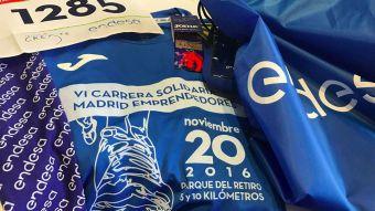 Alrededor de 5.000 corredores participaron en la VI edición de la 'Carrera Solidaria Madrid Emprendedores'