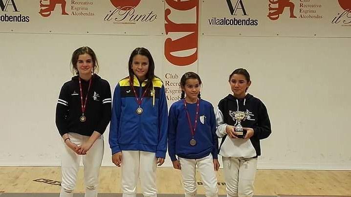 Cuatro medallas para el Club de Esgrima de Pozuelo