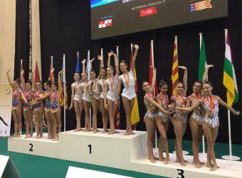 El equipo Junior de Rítmica Pozuelo se alza con el oro en el Campeonato de España