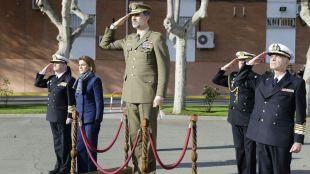 El Rey y Cospedal visitan el centro de mando de operaciones militares ubicado en Pozuelo