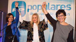Cristina Cifuentes, protagonista de la cena de Navidad del PP en Pozuelo