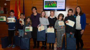 Susana Pérez Quislant entrega los premios de los Concursos Escolares Navideños de Belenes, Árboles y Felicitaciones