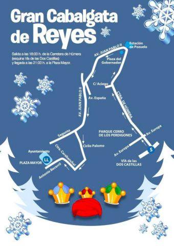Todo preparado para la Cabalgata de Reyes de Pozuelo 2017