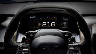 La pantalla digital del nuevo Ford GT es el tablero de mandos del futuro