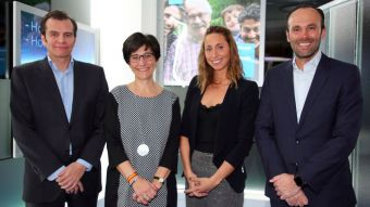 Susana Pérez Quislant y Gemma Mengual inauguran la nueva oficina de Sanitas en Pozuelo