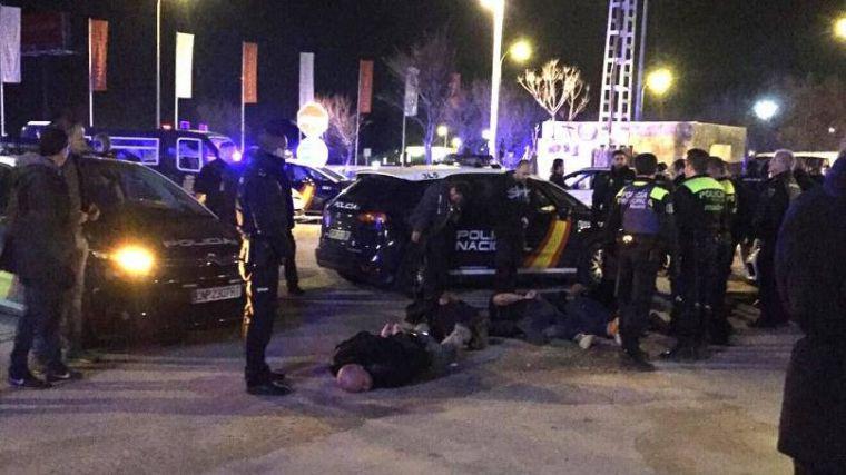 Cinco heridos y siete detenidos en una discoteca de Aravaca