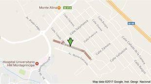 Cortes de tráfico en la calle Guipúzcoa de Pozuelo