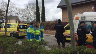 Dos heridos en el incendio de un chalé en Pozuelo de Alarcón