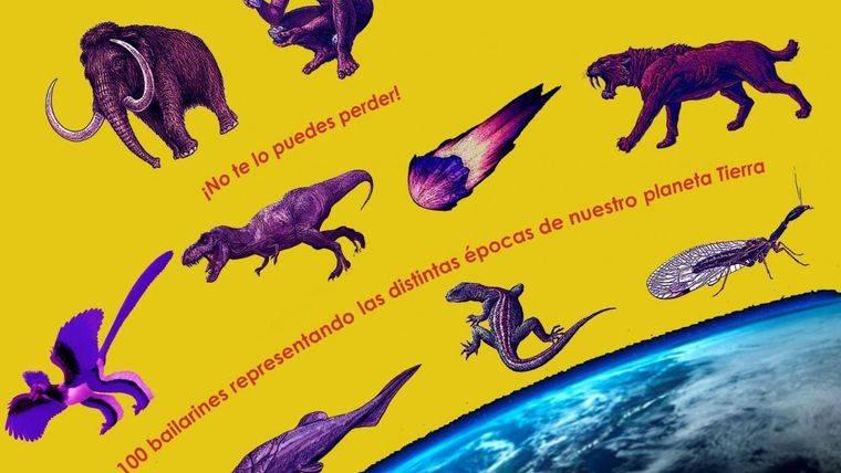 Flashmob entre meteoritos y dinosaurios