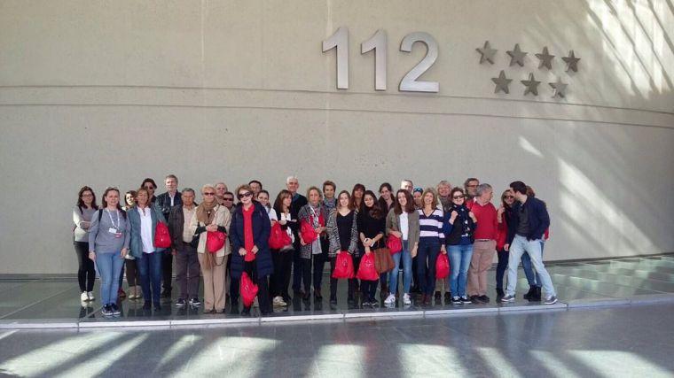 Voluntarios de Cruz Roja Pozuelo visitan la sede del Servicio de Emergencias 112