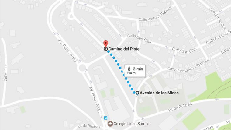 Cortes de tráfico hasta mañana en la Avenida de las Minas y Cº del Piste